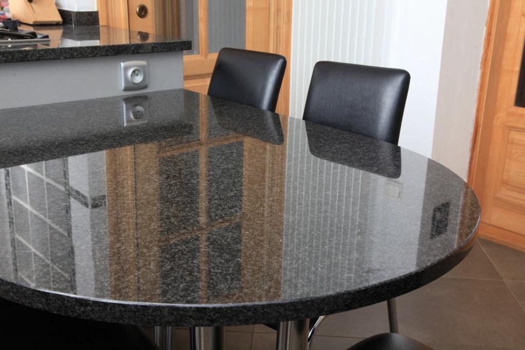 cuisine ilot central table. Black Bedroom Furniture Sets. Home Design Ideas